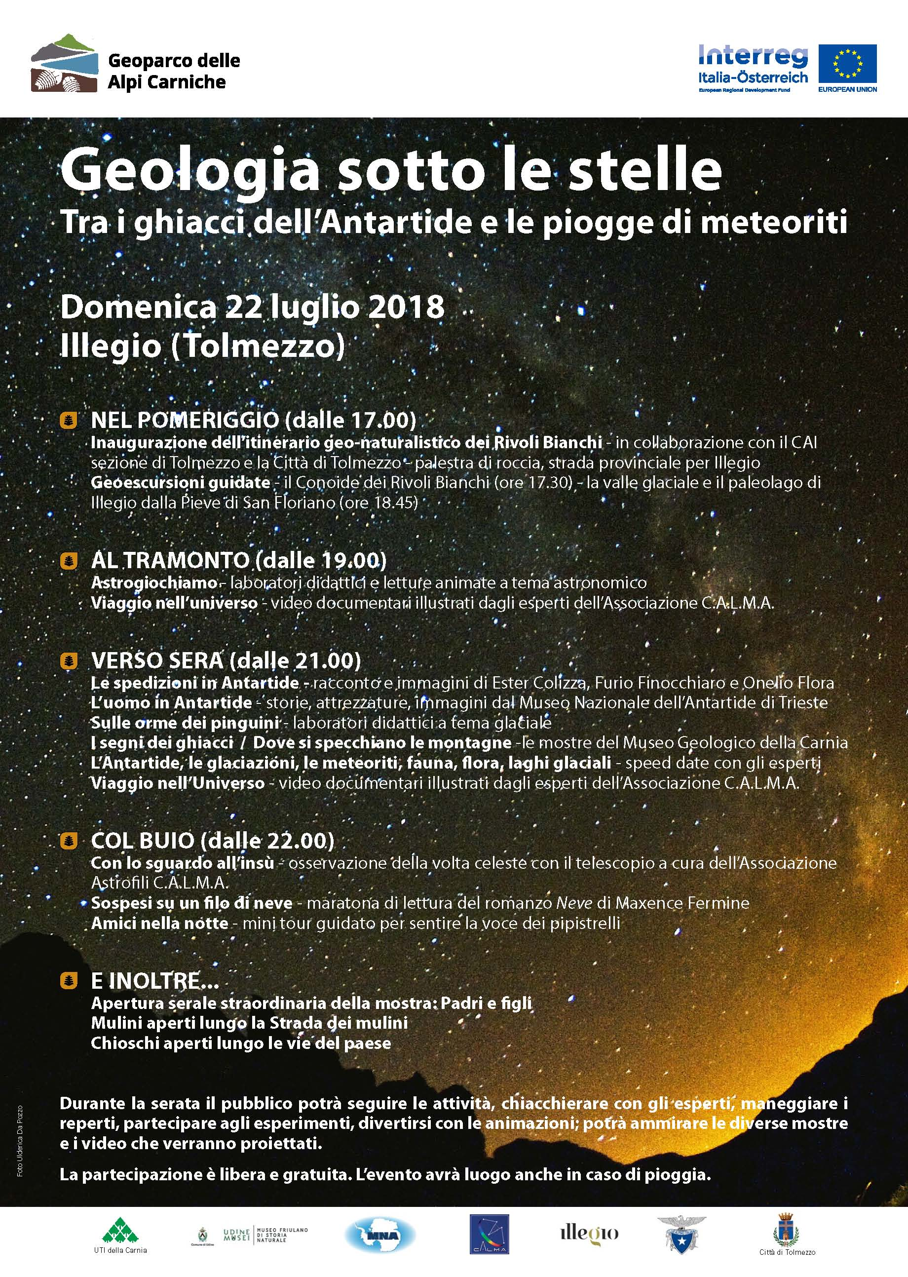 geologia sotto le stelle